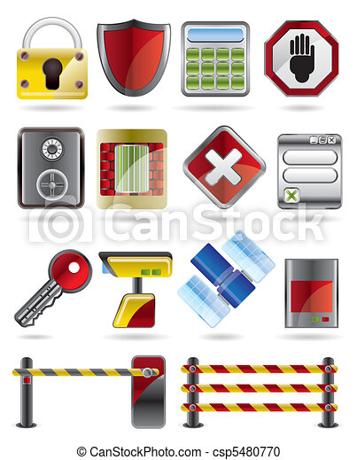 Security and Business icons  - csp5480770