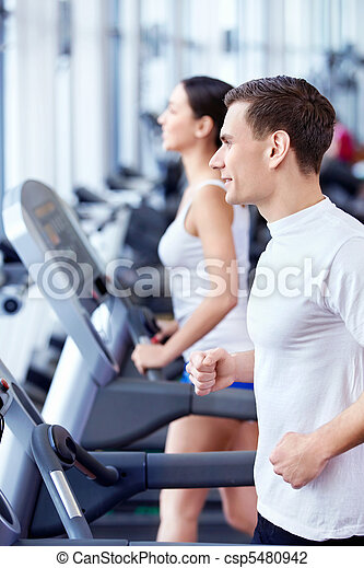 People in fitness club - csp5480942