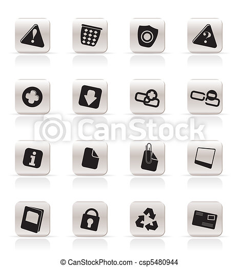 Simple Web site and computer Icons  - csp5480944
