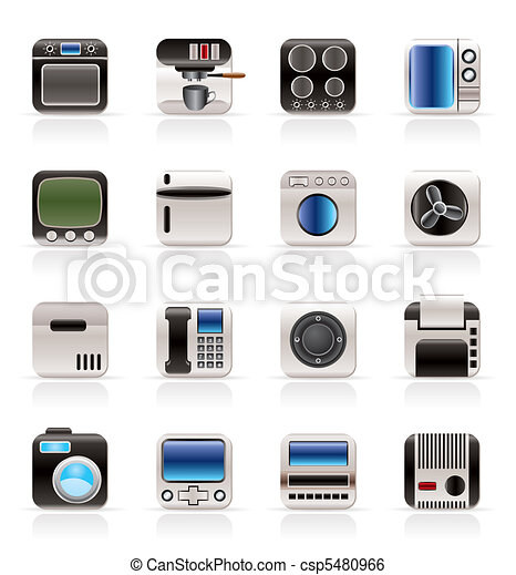 Home and Office, Equipment Icons - csp5480966