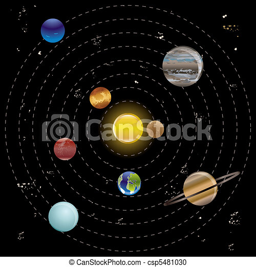 Planets and sun  - csp5481030