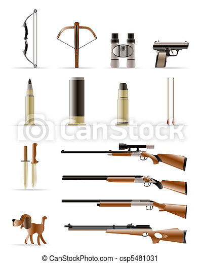 Hunting Icons - Vector Icon Set - csp5481031
