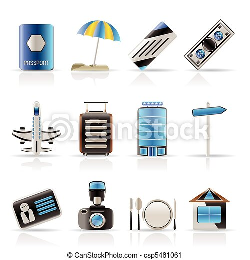 Travel, Holiday and Trip Icons - csp5481061