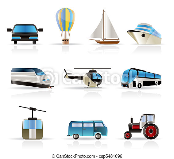 Transportation and travel icons - v - csp5481096