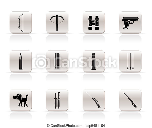 Hunting and arms Icons - csp5481104