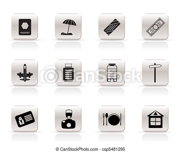 Travel, Holiday and Trip Icons - csp5481295