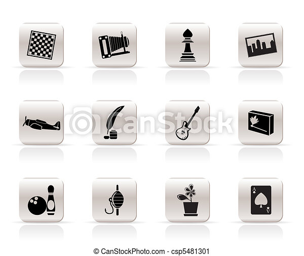 Simple Hobby, Leisure icons - csp5481301