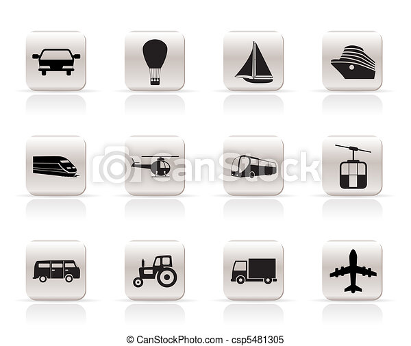 Transportation and travel icons -  - csp5481305