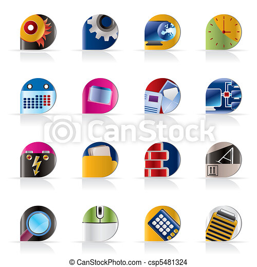 Computer, mobile phone icons - csp5481324