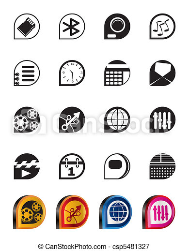 Simple phone  performance icons - csp5481327