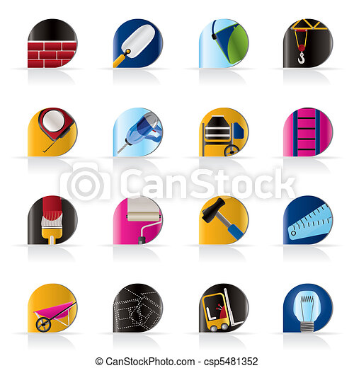 Construction and Building icons - csp5481352
