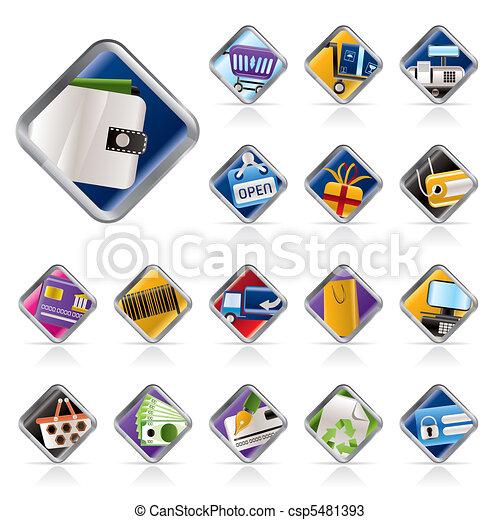 Online Shop, e-commerce icons - csp5481393