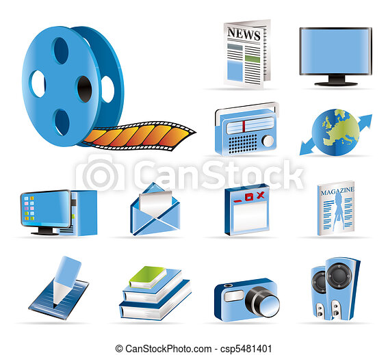 Media and information icons - Vecto - csp5481401