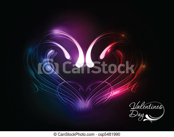 valentines day heart design - csp5481990