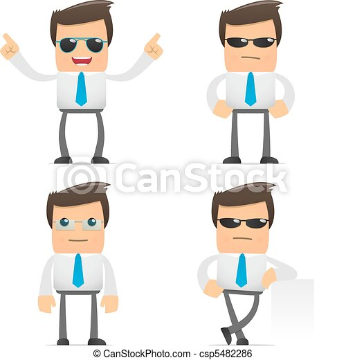 set of funny cartoon manager - csp5482286