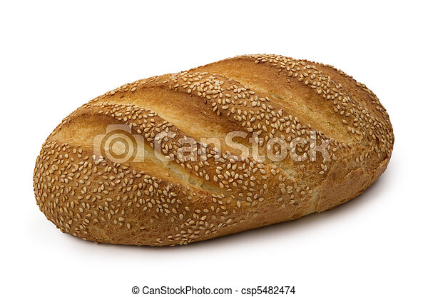 loaf of  fresh wheat  bread - csp5482474