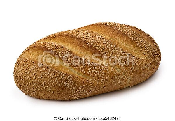 loaf of  fresh wheat  bread - csp5482474