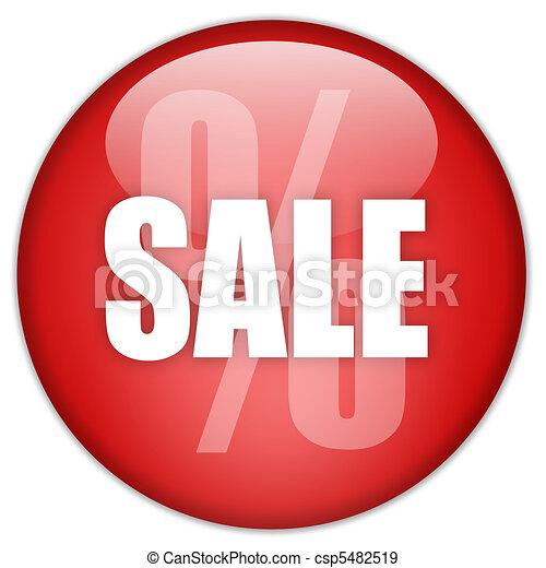 Sale button - csp5482519