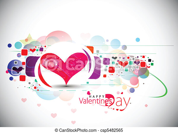 valentines day background - csp5482565