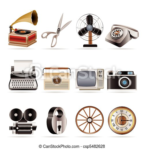 Retro business and office object  - csp5482628