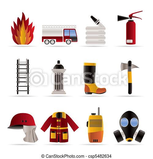 fire-brigade and fireman equipment - csp5482634