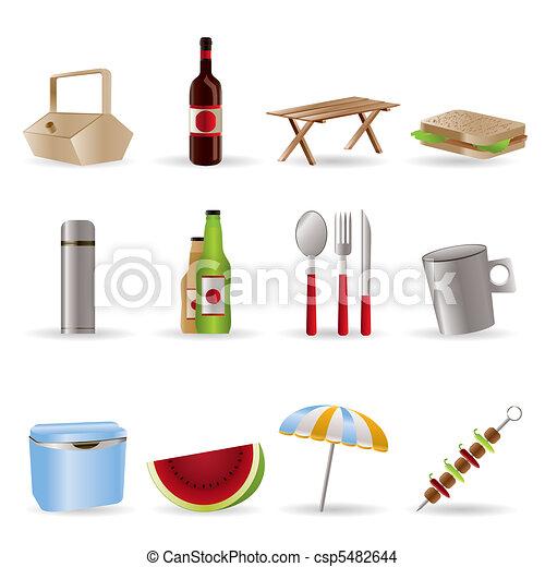Picnic and holiday icons - csp5482644