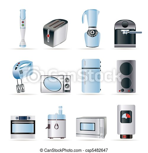 Kitchen and home equipment icons  - csp5482647