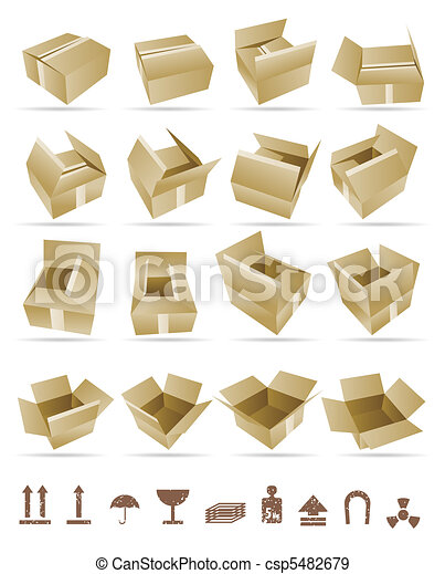Vector Illustration of shipping box - csp5482679