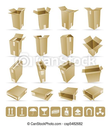 Vector Illustration of shipping box - csp5482682