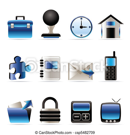 Business and office icons - csp5482709