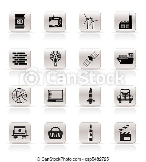 Simple Business and industry icons - csp5482725