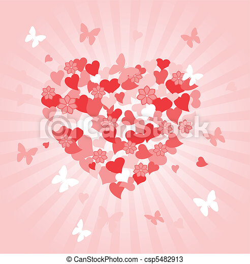 Valentines Day heart  - csp5482913