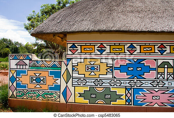 images de maison ndebele a hutte projection les traditionnel csp5483065 recherchez. Black Bedroom Furniture Sets. Home Design Ideas