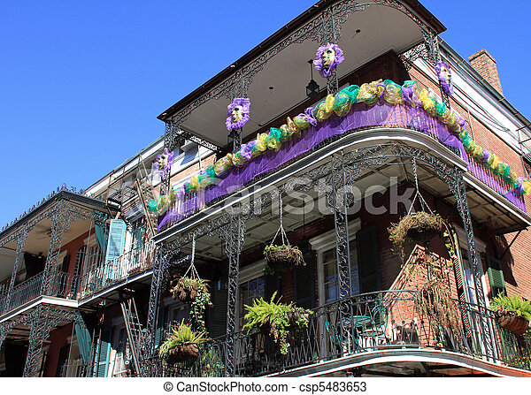 French Quarter in New Orleans - csp5483653