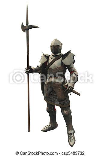 Fifteenth Century Medieval Knight - csp5483732