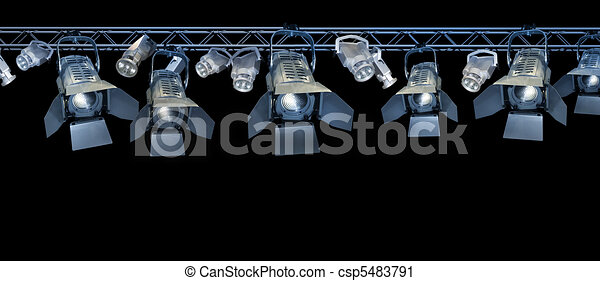 Stage spotlight rack - csp5483791