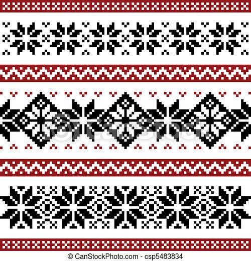 Nordic pattern - csp5483834