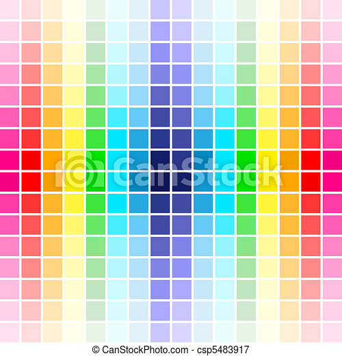 palette rainbow colors - csp5483917