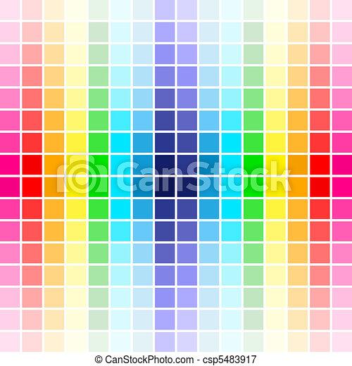 palette rainbow colors - csp5483917