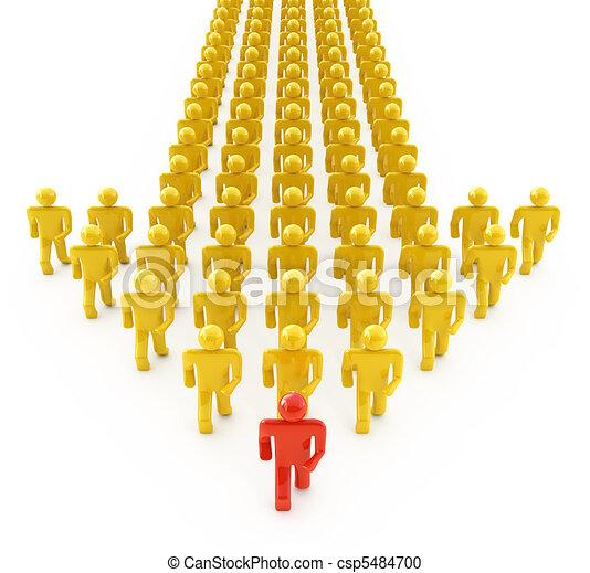 Leader walking forward - csp5484700