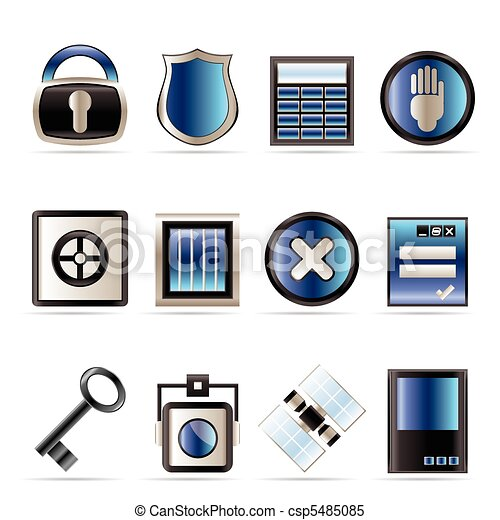 Security and Business icons - csp5485085