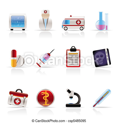 Medical and healthcare Icons - csp5485095