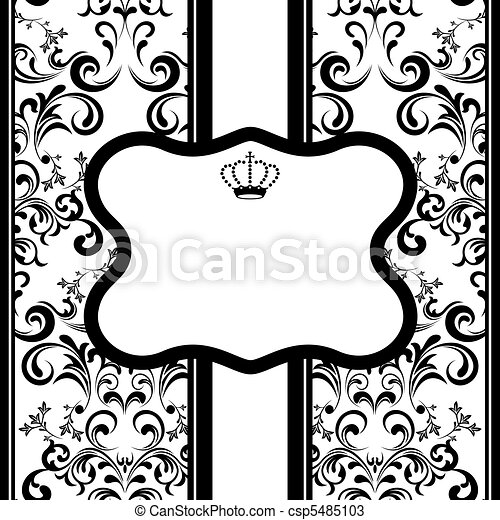 Monochrome Decoration Frame - csp5485103