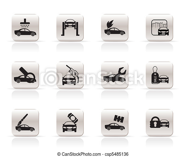 car and automobile service icon  - csp5485136