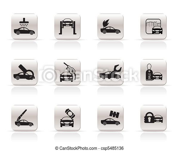 car and automobile service icon  - csp5485136