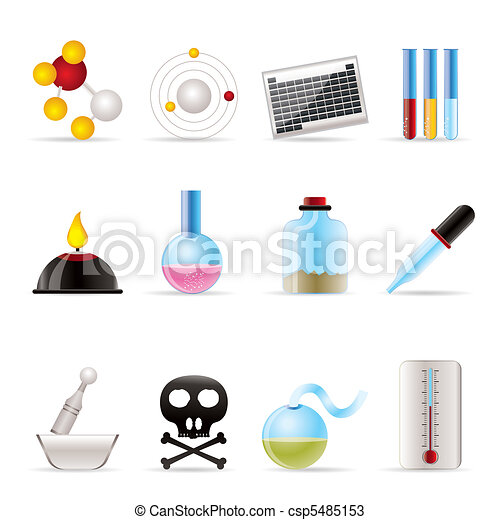 Chemistry industry icons  - csp5485153