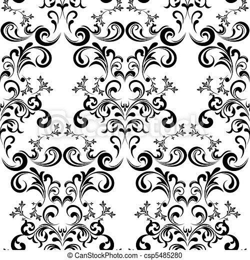 Seamless Floral Pattern - csp5485280