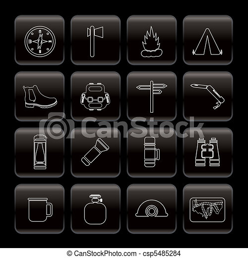 Tourism and Holiday Vector Icon Set - csp5485284