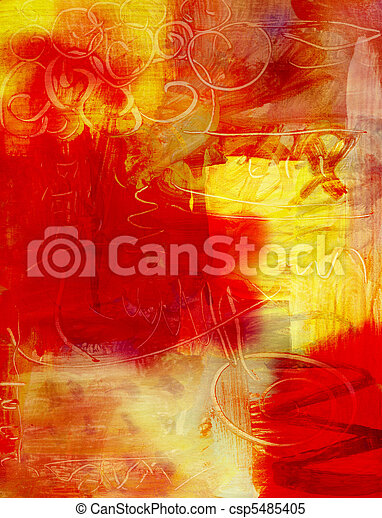abstract acrylic paint background - csp5485405