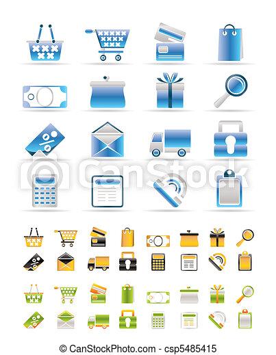 Online shop icons - csp5485415